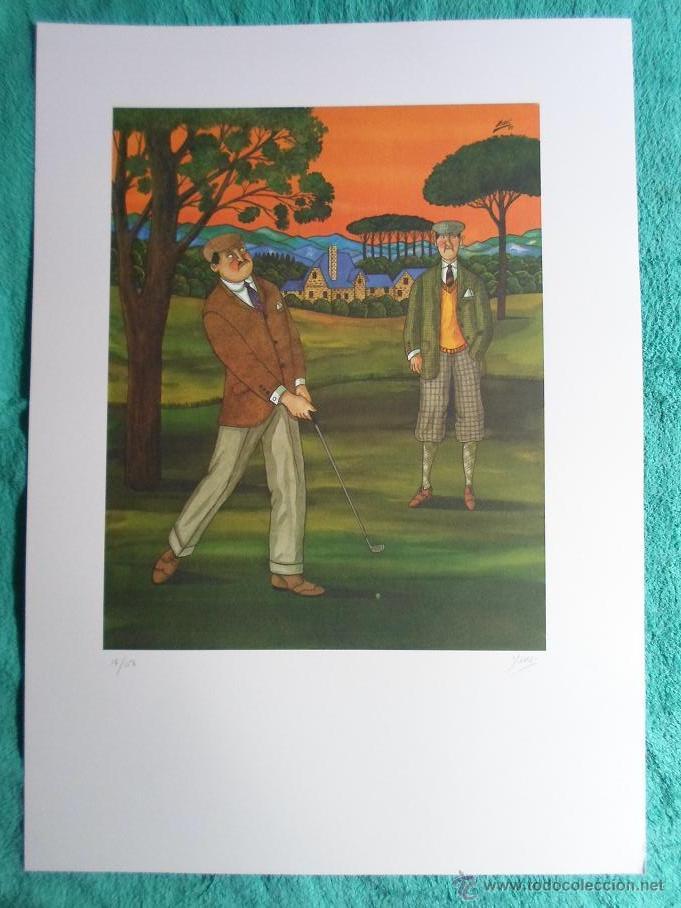 Arte: YSASI Ricardo Isasi Olascoaga (Algorta Vizcaia 1917) serigrafía golf 51x36 papel 70x50cms firma /150 - Foto 6 - 194778446