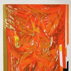 Arte: SEONG MOY -RED TAPESTRY- SERIGRAFÍA ORIGINAL 1982, TIRADA 300 EJEMPLARES. PAPEL 76X54. Lote 48632813
