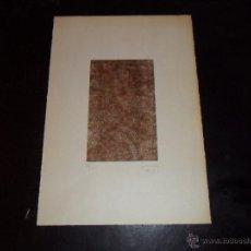 Arte: SERIGRAFIA DE CORA, FIRMADA Y NUMERADA A LAPIZ 25/60, FORMA PARTE DE UNA FELICITACION 1981. Lote 48854767