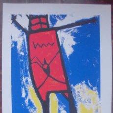 Arte: HOMEM VERMELHO, SERIGRAFÍA DEL ARTISTA GALLEGO XAVIER MAGALHANES. Lote 48967543
