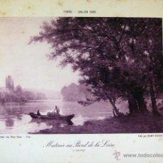 Arte: LAMINA SERIGRAFIA DEL SALON DE PARIS 1928 23X17. Lote 49401214
