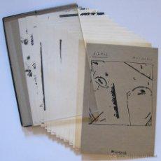 Arte: LLUÍS JUNCOSA. ACÈFAL. CAJA CON 12 SERIGRAFÍAS NUMERADAS Y FIRMADAS. MALLORCA 1985. Lote 51038431