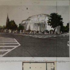 Arte: CHRISTO JAVACHEFF: SERIGRAFÍA-HILO-COLLAGE: WRAPPED KUNSTHALLE BERN / 1972 / FIRMADO A LAPIZ. Lote 51172515