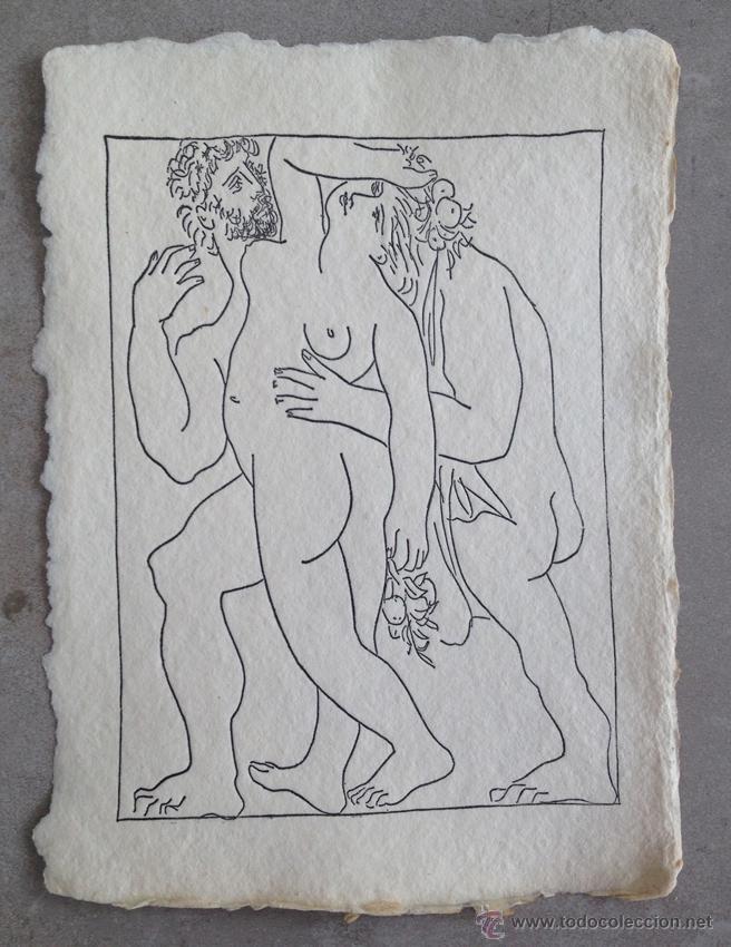 PICASSO INVITACIÓN EN PAPEL EXPOSICIÓN DE GRABADOS (Arte - Serigrafías )