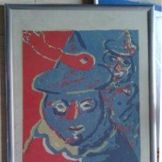 Arte: PACO SANCHO (MADRID, 1951) - SERIGRAFIA Nº 45 DE 50 - ENMARCADA CRISTAL 53 X 43. Lote 53693154
