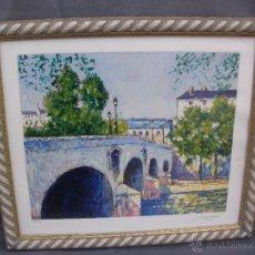 Arte: SERIGRAFIA NUMERADA Y FIRMADA ANDRE BARDET 1909-2006 FRANCIA. Lote 53727495