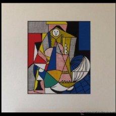 Arte: GRAN SERIGRAFIA ROY LICHTENSTEIN FEMME D'ALGER 1963 ENMARCADA+MARCO EDICION LIMIT. 1000 UND. Lote 53992338