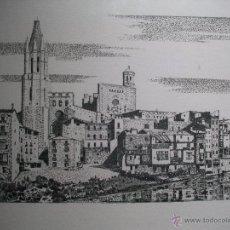 Arte: SERIGRAFIA CATEDRAL DE GIRONA DE JOSEP PUJOL DE OLOT. Lote 54717486