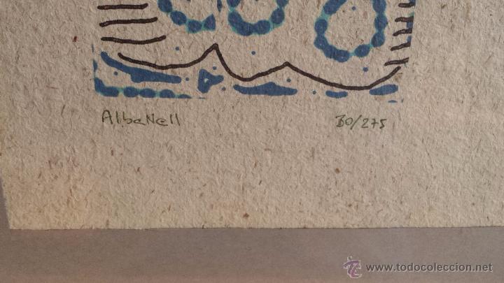 Arte: SERIGRAFÍA ENMARCADA FIRMADA Y NUMERADA. ALBANELL - Nº 30/275 - 43 X 33 CM / BUENA CALIDAD. - Foto 3 - 55030795
