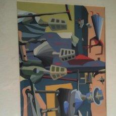 Arte: JUAN BATLLE PLANAS-TRIBUNAL JUZGANDO LOS ELEMENTOS DE LA NATURALEZA-1938 PINTOR ARGENTINO SERIGRAFIA. Lote 55350958