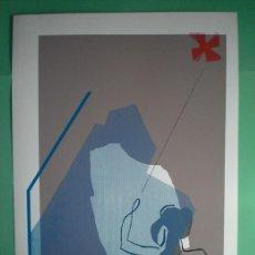 Arte: XULIO MASIDE (VIGO, PONTEVEDRA, 1933) SERIGRAFÍA 2003 DE 50X70 ASOC EÓLICA FIRMADA Y 2/125. Lote 56268371