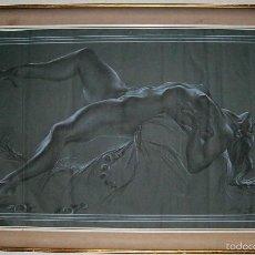 Arte: GRABADO FIRMADO BRANDT 1961 T/ ECSTASY MED 112X64 Y NUMERACION CON MARCO 125X77 CM. Lote 57073934