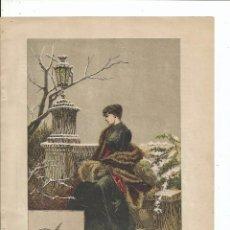 Arte: 1889 - INVIERNO POR PICOLO - 28 X 20 CM.. Lote 57314921
