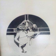 Arte: LOTE DE 2 SERIGRAFIAS,NUMERADAS Y FIRMADAS A MANO,AÑOS 70.FIRMAS A IDENTIFICAR.ENMARCADAS-DA VINCI. Lote 57561954