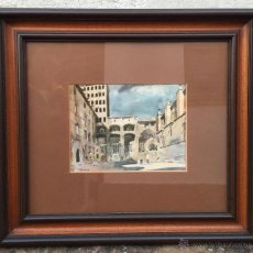 Arte: LLOVERAS LAMINA BIEN ENMARCADA CATEDRAL BARCELONA. Lote 57795022