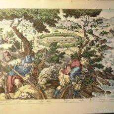 Arte: ANTIGUA SERIGRAFIA O SIMILAR CAZADORES DE PATOS DEL SIGLO XVI POR JOHAN STRA. Lote 57801868
