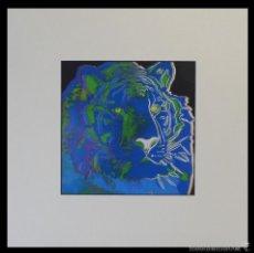 Arte: BONITA SERIGRAFIA DE ANDY WARHOL THE TIGER 06/06 NR. 297 EDICION LIMITADA A SOLO 1000 UNIDADES. Lote 57918330