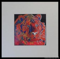 Arte: GRAN SERIGRAFIA DE ANDY WARHOL TIGER 01/06 NR. 297 ENMARCADA Y EDICION LIMITADA A 1000 UNIDADES. Lote 57918391