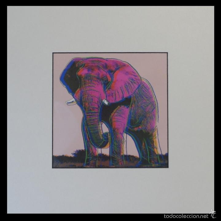 BONITA SERIGRAFIA DE ANDY WARHOL THE TIGER 01/06 NR. 293 EDICION LIMITADA A SOLO 1000 UNIDADES (Arte - Serigrafías )