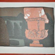 Arte: SERIGRAFIA FIRMADA A LÁPIZ Y CON JUSTIFICACIÓN DE TIRADA DE 1978. Lote 58359678