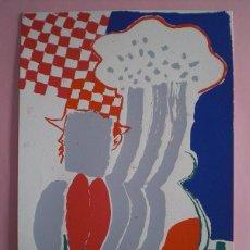Arte: CARLOS BLOCH (LAS PALMAS CANARIAS 1955) SERIGRAFÍA LOS AÑOS 80, DE 35X50CMS, FIRMADA A LÁPIZ Y PA.. Lote 58549358