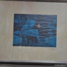 Arte: SERIGRAFÍA ORIGINAL DE MANUEL ALCORLO FIRMADA Y DEDICADA DEL AÑO 1977. Lote 59777780