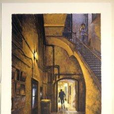 """Arte: """"LA PORTERIA"""", SERIGRAFÍA ORIGINAL FIRMADA Y NUMERADA (32/99) DE MARCOS PALAZZI. Lote 65734463"""