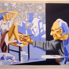 """Arte: """"BALTHUS Y LA MODELO"""", SERIGRAFÍA ORIGINAL FIRMADA Y NUMERADA (2/60), ED. LIMITADA, JOAN J.GUILLÉN. Lote 60238015"""