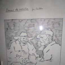 Arte: SERIGRAFÍA DE CASTELAO. 33 X 23 CMS. MARCO DETERIORADO.. Lote 61089631