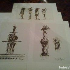 Arte: FUENTE DE LAS GRANADAS .TRES SERIGRAFIAS FIRMADAS Y NUMERADAS.RAMIRO MEGIAS.2007. Lote 62699836