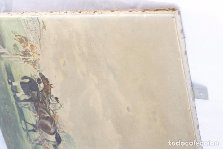 Arte: Antigua Serigrafía sobre tela, principios del siglo XX finales del XIX - Hipódromo - 93 x 61 CM - Foto 18 - 62957404