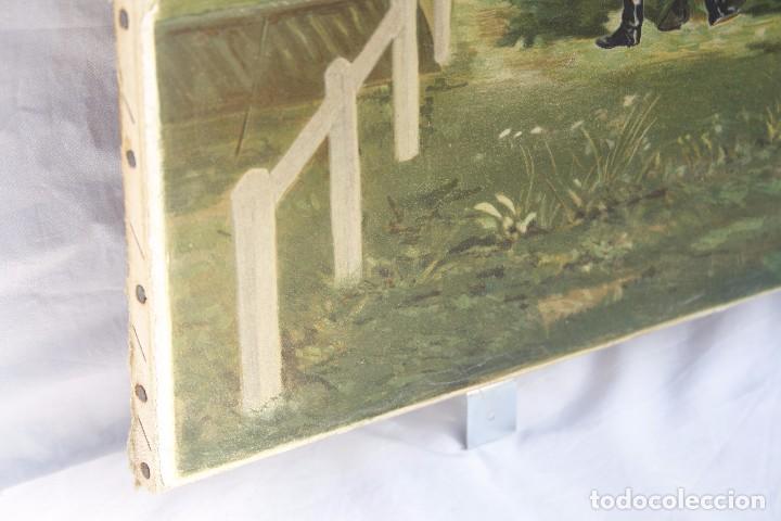 Arte: Antigua Serigrafía sobre tela, principios del siglo XX finales del XIX - Hipódromo - 93 x 61 CM - Foto 19 - 62957404