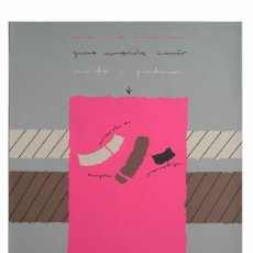 Arte: SERIGRAFIA FIRMADA Y NUMERADA A LAPIZ.. Lote 63413848