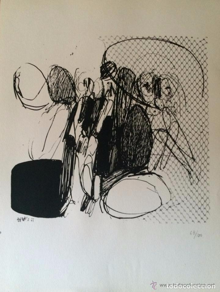 JOSÉ LUIS ALEXANCO.*SOBRE LA GENTE VII*.1965.SERIGRAFÍA.Nº 63/100.EDITOR ALFONSO VADILLO.CATALOGADA. (Arte - Serigrafías )