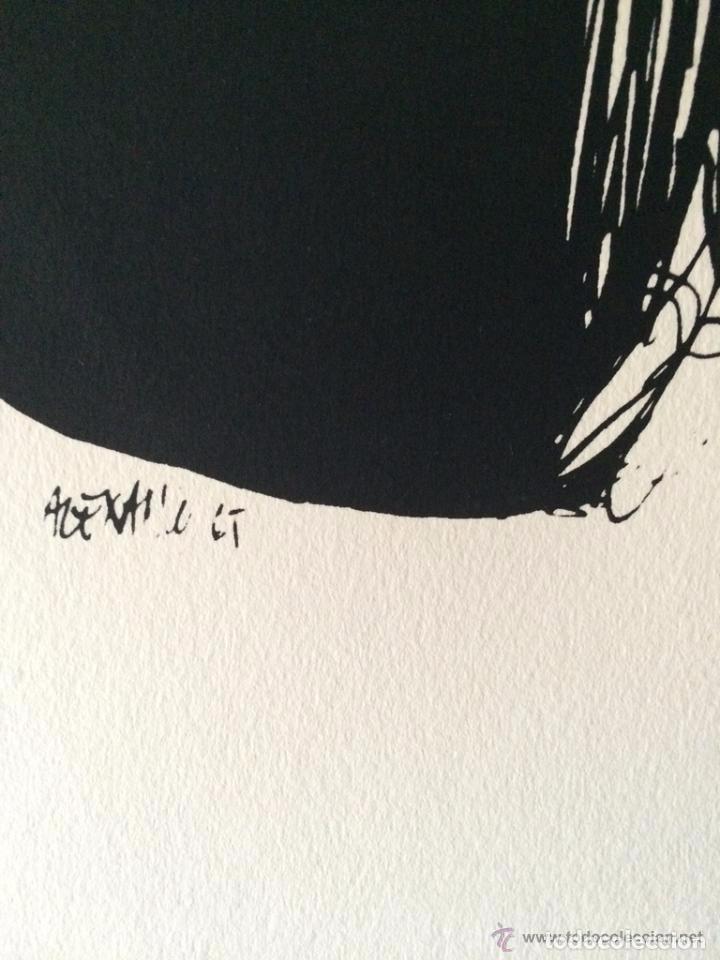 Arte: José Luis Alexanco.*Sobre la gente VII*.1965.Serigrafía.Nº 63/100.Editor Alfonso Vadillo.Catalogada. - Foto 2 - 66078390