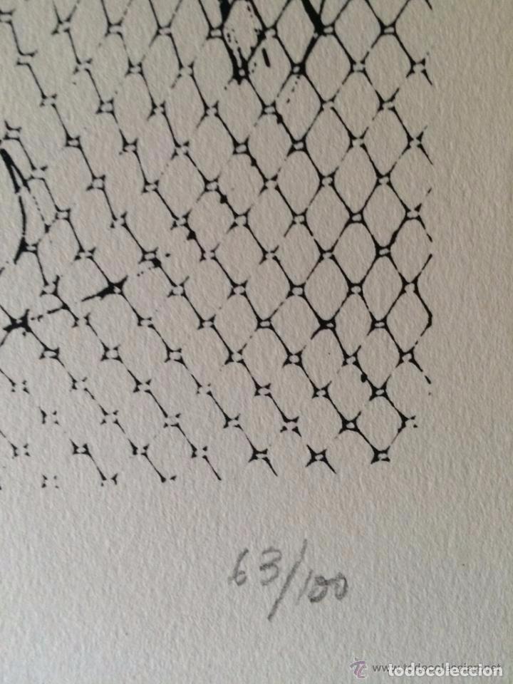 Arte: José Luis Alexanco.*Sobre la gente VII*.1965.Serigrafía.Nº 63/100.Editor Alfonso Vadillo.Catalogada. - Foto 3 - 66078390