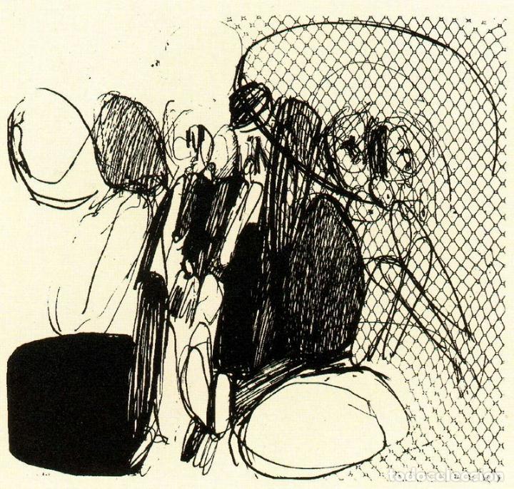 Arte: José Luis Alexanco.*Sobre la gente VII*.1965.Serigrafía.Nº 63/100.Editor Alfonso Vadillo.Catalogada. - Foto 4 - 66078390