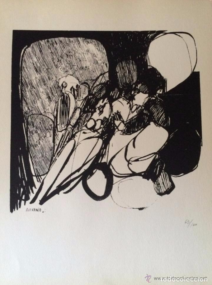 JOSÉ LUIS ALEXANCO.*SOBRE LA GENTE VIII*.1965.SERIGRAFÍA.Nº 63/100.EDITOR ALFONSO VADILLO.CATALOGADA (Arte - Serigrafías )