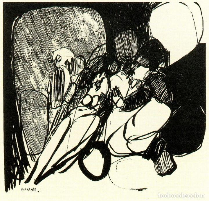 Arte: José Luis Alexanco.*Sobre la gente VIII*.1965.Serigrafía.Nº 63/100.Editor Alfonso Vadillo.Catalogada - Foto 2 - 66080102