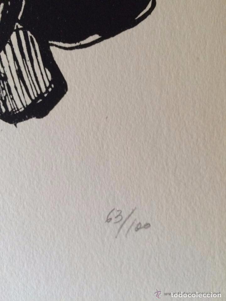 Arte: José Luis Alexanco.*Sobre la gente VIII*.1965.Serigrafía.Nº 63/100.Editor Alfonso Vadillo.Catalogada - Foto 4 - 66080102