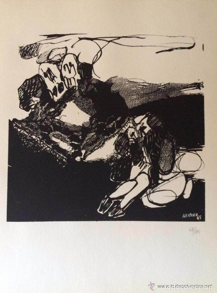 JOSÉ LUIS ALEXANCO.*SOBRE LA GENTE IX*.1965.SERIGRAFÍA. Nº 63/100.EDITOR ALFONSO VADILLO.CATALOGADA. (Arte - Serigrafías )