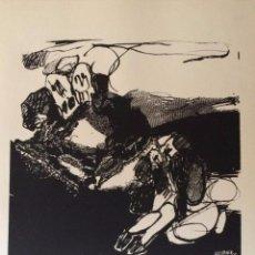 Arte: JOSÉ LUIS ALEXANCO.*SOBRE LA GENTE IX*.1965.SERIGRAFÍA. Nº 63/100.EDITOR ALFONSO VADILLO.CATALOGADA.. Lote 66081070