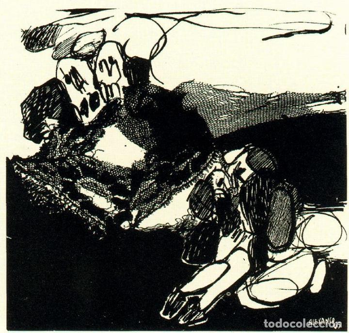 Arte: José Luis Alexanco.*Sobre la gente IX*.1965.Serigrafía. Nº 63/100.Editor Alfonso Vadillo.Catalogada. - Foto 2 - 66081070
