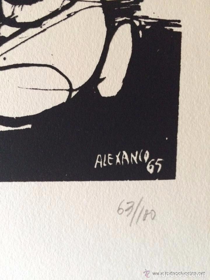 Arte: José Luis Alexanco.*Sobre la gente IX*.1965.Serigrafía. Nº 63/100.Editor Alfonso Vadillo.Catalogada. - Foto 3 - 66081070