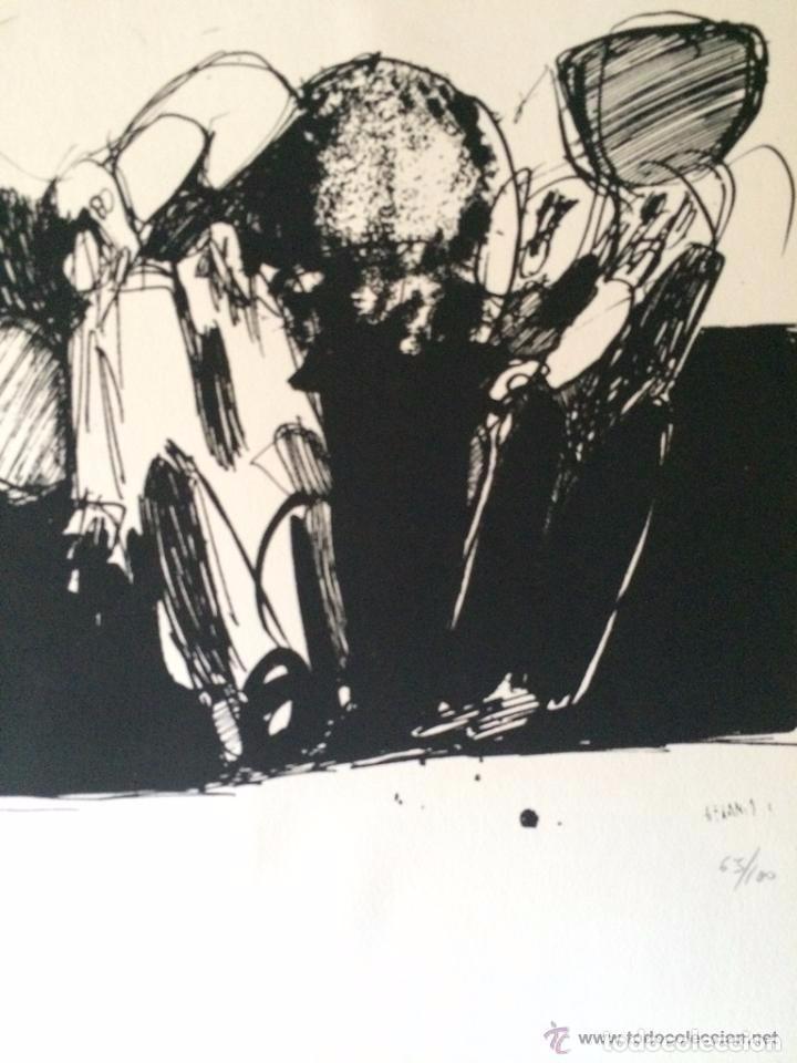 JOSÉ LUIS ALEXANCO.*SOBRE LA GENTE V*.1965.SERIGRAFÍA. Nº 63/100.EDITOR ALFONSO VADILLO.CATALOGADA. (Arte - Serigrafías )