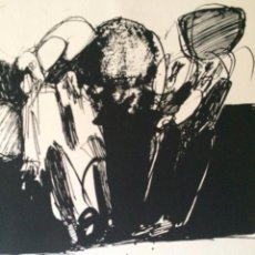 Arte: JOSÉ LUIS ALEXANCO.*SOBRE LA GENTE V*.1965.SERIGRAFÍA. Nº 63/100.EDITOR ALFONSO VADILLO.CATALOGADA.. Lote 66081314
