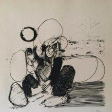Arte: JOSÉ LUIS ALEXANCO.*SOBRE LA GENTE II*.1965.SERIGRAFÍA. Nº 63/100.EDITOR ALFONSO VADILLO.CATALOGADA.. Lote 66082902