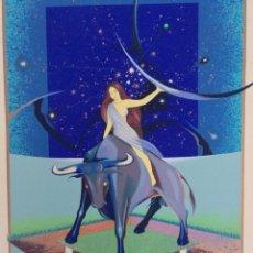 Arte: SERIGRAFIA - TAURO - ORIGINAL OBRA - FIRMADA Y NUMERADA - 37/250. Lote 67312909