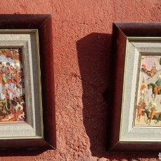 Arte: PAREJA DE RELIEVES CHINESCOS EN METAL. Lote 69242705