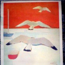 Arte: SERIGRAFÍA SOBRE CARTULINA FIRMADA Y DEDICADA.71 X 52 CM.. Lote 74505071